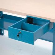 "Global Industrial™ Workbench Steel Drawer, 10-3/4""W x 18""D x 4-1/4""H, Blue"