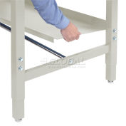 "Global Industrial™ Lower Shelf Steel With 2"" Back Stop for Workbench - 60""W x 14""D - Tan"