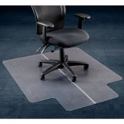 """Interion® Office Chair Mat for Carpet - 46""""W x 60""""L with 25"""" x 12"""" Lip - Straight Edge"""