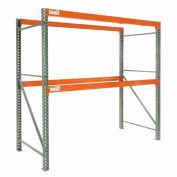 "Global Industrial™ Tear Drop Pallet Rack Starter 144""W X 42""D X 144""H, 5970 Lbs. Capacity"