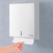 Global Industrial™ Stainless Steel C-Fold/Multifold Towel Dispenser - 400 C-Fold/525 Multifold