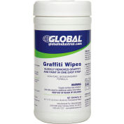 Global Industrial™ Graffiti Wipes, 40 Wipes/Canister, 6 Canisters/Case
