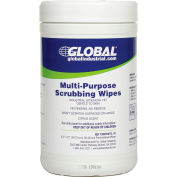 Global Industrial™ Multi-Purpose Scrubbing Wipes, 70 Wipes/Canister, 6 Canisters/Case