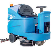 "Global Industrial™ Auto Ride-On Floor Scrubber 34"" Cleaning Path, Three 170 Amp Batteries"