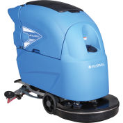 """Global Industrial™ Auto Walk-Behind Floor Scrubber 20"""" Cleaning Path, Two 115 Amp Batteries"""