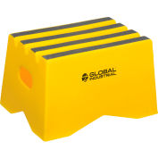 "Global Industrial™ 1 Step Plastic Step Stand - 19-1/2""W x 13-1/2""D x 12""H, Yellow"