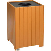 Global Industrial™ Recycled Plastic Square Trash Can With Liner, 32 Gallon, Cedar