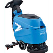 """Global Industrial™ Auto Walk-Behind Floor Scrubber 17"""" Cleaning Path, Two 80 Amp Batteries"""
