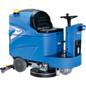 "Global Industrial Ride-On Floor Scrubber 40"" Cleaning Path"