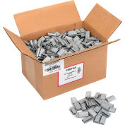 """Pac Strapping Serrated Polyester Strapping Seals, 5/8"""" Strap Width, Silver, Pack of 1000"""