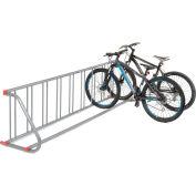 Global Industrial™ Grid Bike Rack, 9-Bike, Single Sided, Powder Coated Steel