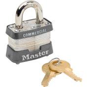 """Master Lock® No. 3KA Keyed Padlock - 3/4"""" Shackle - Keyed Alike - Pkg Qty 6"""