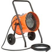 Global Industrial™ Salamander Heater Portable Electric, 480V 15 KW 3 Phase With 25'L Power Cord