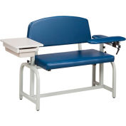 Clinton™ 66002 Lab X Series Extra-Wide Blood Drawing Chair with Padded Flip Arm and Drawer