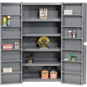 """Global Industrial™ Easy Assembly 38""""W Cabinet - Shelving In Doors And Interior 38 x 24 x 72"""