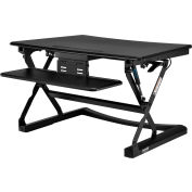 Interion® Height Adjustable Sit-Stand Desk Converter with Retractable Keyboard