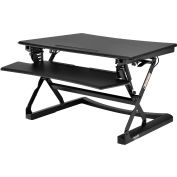 Interion® Height Adjustable Sit-Stand Desk Converter with Full Width Keyboard