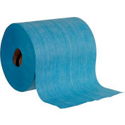 Global Industrial™ Quick Rags® Heavy Duty Jumbo Roll, Blue, 475 Sheets/Roll, 1 Roll/Case