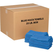Global Industrial™ 100% Cotton Blue Huck Towels, 25 Lb. Box