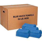 Global Industrial™ 100% Cotton Blue Huck Towels, 50 Lb. Box