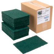 "Global Industrial™ Medium Duty Scouring Pads, Green, 6"" x 9"" - Case of 20 Pads"
