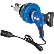 """Global Industrial™ Electric Auto-Feed Handheld Drain Cleaner For 3/4""""-3""""ID, 5/16""""x25' Cable"""
