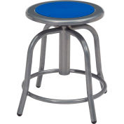 NPS Steel Designer Stool - Adjustable Height - Persian Blue with Gray Frame - 6800 Series