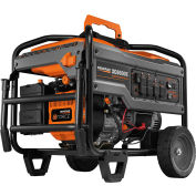 GENERAC® 6825, 6500 Watts, Portable Generator, Gasoline, Electric/Recoil Start, 120/240V