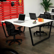 """Interion® Collaboration Table - Double - 60""""W x 60""""D x 30""""H - Gray"""