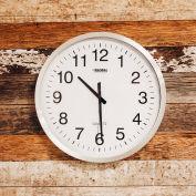 "Global Industrial™ Oversized Wall Clock - 20"" - Aluminum"