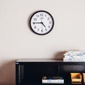 "Global Industrial™ Black Wall Clock 12"" - Plastic"