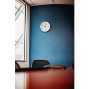 "Global Industrial™ White Wall Clock 12"" - Plastic"