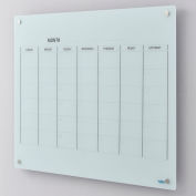 Global Industrial™ Glass Calendar Whiteboard - 48 x 36 - Magnetic - White
