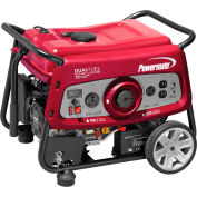 Powermate 6957, 3500/3200 Watts, Portable Generator, Gasoline/LP,Electric/Recoil Start,120V