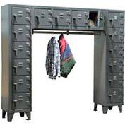 Strong Hold® Heavy Duty Free-Standing 16 Compartment Locker 7.56-16D-WR-180