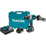 "Makita XFD07T 18V LXT Lithium-Ion Brushless Cordless 1/2"" Driver-Drill Kit 5.0Ah"