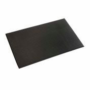 "Apache Mills Soft Foot™ Ribbed Surface Mat 3/8"" Thick 2' x Up to 30' Black"