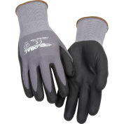 Global Industrial™ Micro-Foam Nitrile Coated Nylon Gloves, 15 Gauge, Large, 1 Pair - Pkg Qty 12