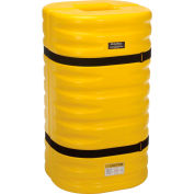 "Global Industrial™ Column Protectors, 10"" Column Opening, Yellow"