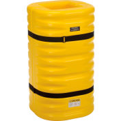 "Global Industrial™ Column Protectors, 12"" Column Opening, Yellow"