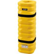 "Global Industrial™ Narrow Column Protectors, 4 - 6"" Column Opening, Yellow"