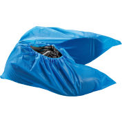Water Resistant Disposable Shoe Covers, Size 6-11, Blue, 150 Pairs/Case