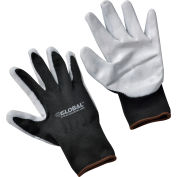 Global Industrial™ Foam Nitrile Coated Gloves, Gray/Black, Large, 1-Pair - Pkg Qty 12