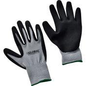 Global Industrial™ Ultra-Grip Foam Nitrile Coated Gloves, Gray/Black, Medium, 1-Pair - Pkg Qty 12