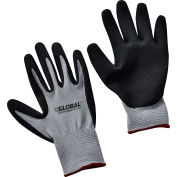 Global Industrial™ Ultra-Grip Foam Nitrile Coated Gloves, Gray/Black, Small, 1-Pair - Pkg Qty 12