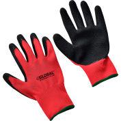 Global Industrial™ Crinkle Latex Coated Gloves, Red/Black, Medium, 1-Pair - Pkg Qty 12