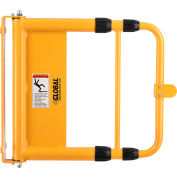 """Global Industrial™ Universal Spring-Loaded Safety Swing Gate, 24"""" - 40"""" W Opening, Yellow"""