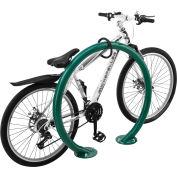 Global Industrial™ Circle Bike Rack, 2 Bike Capacity, Flange Mount, Green