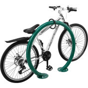 Global Industrial™ Circle Bike Rack, 2 Bike Capacity, Flange Mount, Green