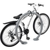 Global Industrial™ Circle Bike Rack, 2 Bike Capacity, Flange Mount, Gray